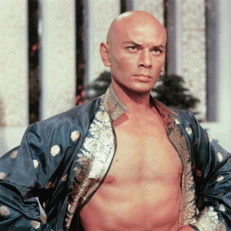 Yul Brynner bald