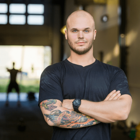 hair loss and the gym- bald man in the gym