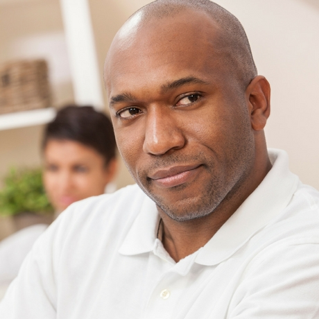 Bald man contemplating do women find bald men attractive