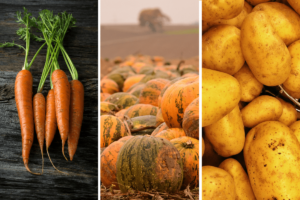 Potatoes, pumpkins and carrots are foods to eat to reduce DHT naturally