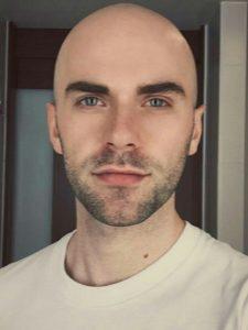 bald shaved head