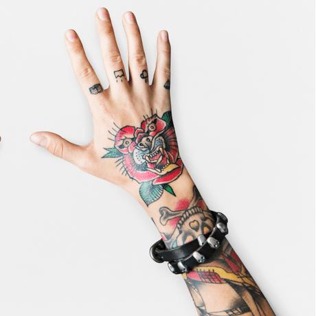 regular tattoo and hairline tattoo