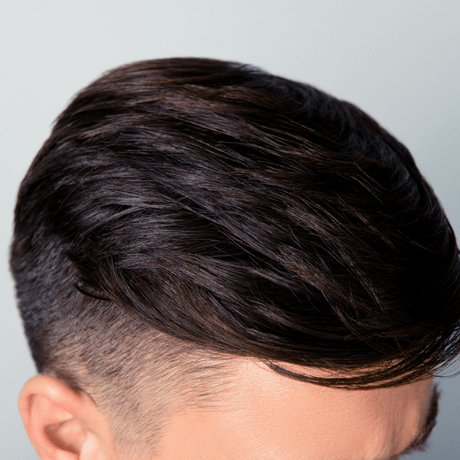 hair system on young man