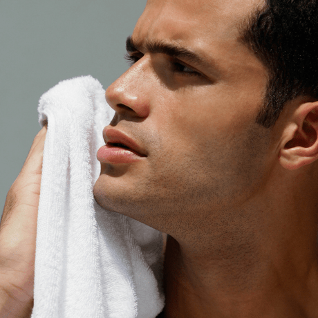 man with youthful healthy skin