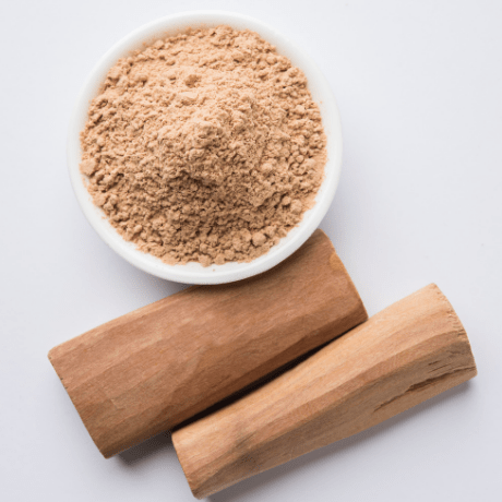 Sandalwood aromatic wood powder form