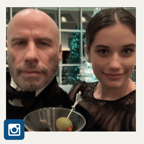 john travolta goes bald instagram