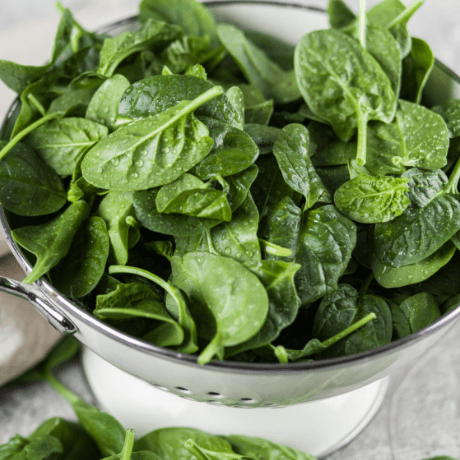 vegan diet spinach iron levels