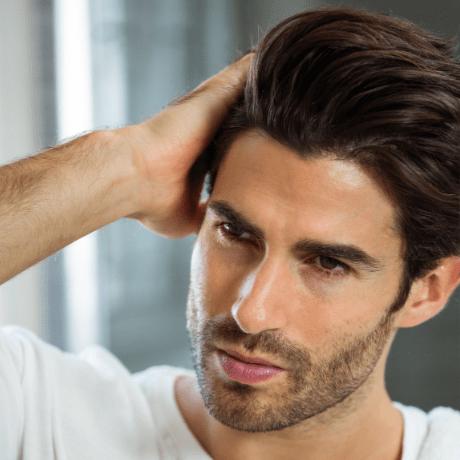 hombre con cabello mas grueso - pelo parezca más espeso