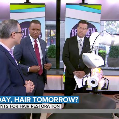 craig Melvin today show hair surgery robot