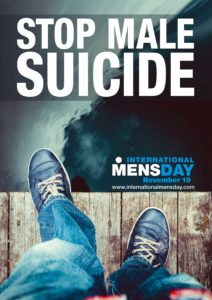 stop male suicide poster