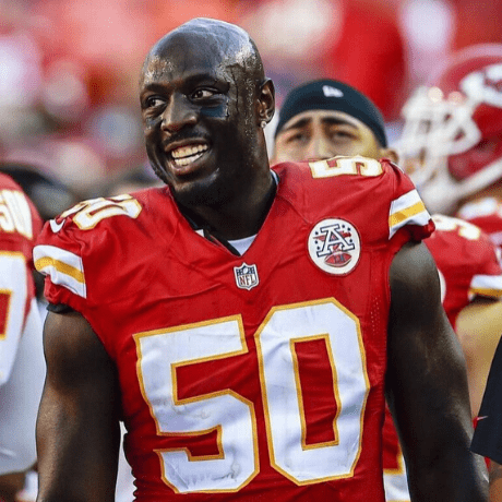 Justin Houston shaved head bald NFL players